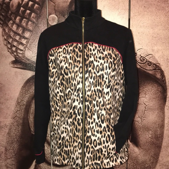 b1a7b2372322 Chico's Jackets & Coats   Zenergy By Chicos Leopard Zip Up Jacket ...